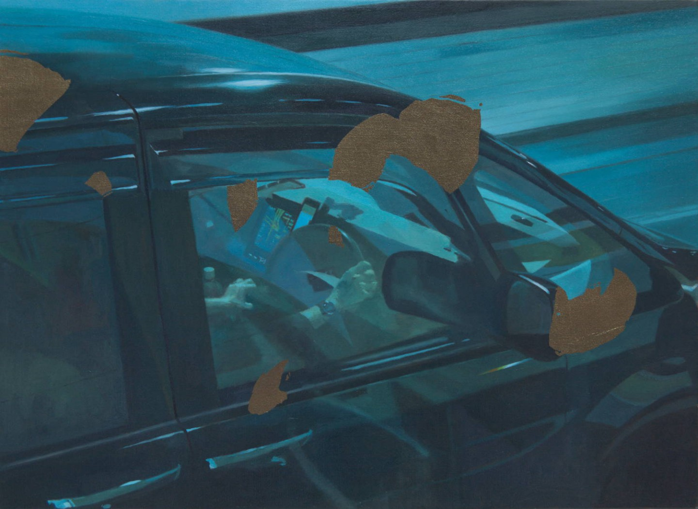 ナイトクルージング-Night cruising(haneda)/530×727mm/Oil on canvas/2019
